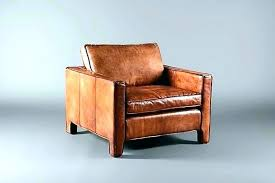 light brown leather chair cream colored