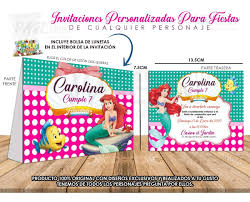 12 Invitaciones Personalizadas Para Fiestas Infantiles 120 00
