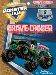 Monster Jam Grave Digger Trucks Decal Pack Walmart Com Walmart Com