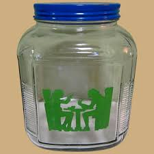 anchor hocking canister vintage glass