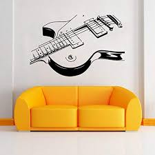 Amazon Com Aiwall 9321 Art Guitar Wall Stickers Diy Home Decorations Music Wall Decals Living Room Baby