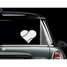 Decal Baseball Heart Wall Decal Or Window Decal 11 X 12 Walmart Com Walmart Com