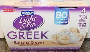 dannon light fit banana cream review