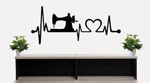 Amazon Com Sewing Machine Heartbeat Lifeline Wall Decal Bg 501 Handmade