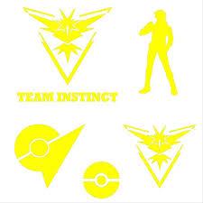 Team Instinct Vinyl Decal Multipack Pokemon Go Inspired Amazon Ca Home Kitchen