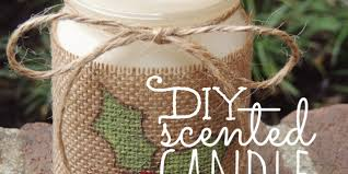 diy scented candle in a jar living