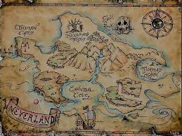 Neverland Map Vintage Posters By Michelle Muller Redbubble Neverland Map Treasure Maps For Kids Neverland