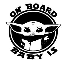 Baby Yoda Car Decal Sticker Vinyl In 2020 Vinyl Sticker Disney Car Decals Yoda Decals