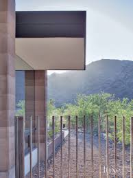 Modern Cantilevered Steel Fence Luxe Interiors Design