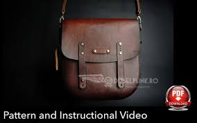 leather diy pdf messenger bag