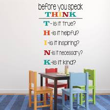Before You Speak Think Classroom Vinyl Wall Decoration For Teachers