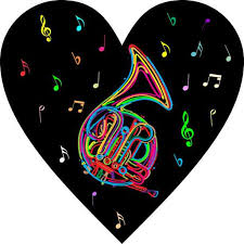 4inx4in Neon French Horn Heart Sticker Vinyl Cup Decal Car Bumper Stickers Walmart Com Walmart Com