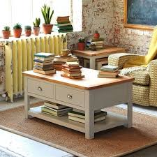 lundy painted 2 drawer coffee table