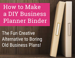 diy business planner binder tutorial