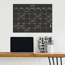 Ebern Designs Monthly Calendar Chalkboard Wall Decal Reviews Wayfair