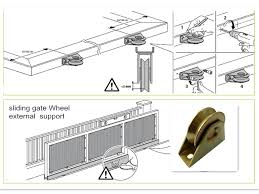 Hot Item Sliding Gate Metal Weels For Bottom Floor Track Sliding Gate Electric Sliding Gates Automatic Sliding Gate