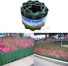 garden border edging 4 x 120cm earth
