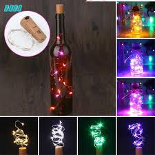 Nút đậy chai rượu thuỷ tinh gắn dây đèn LED trang trí
