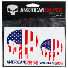Signature Products Group American Sniper Us Flag Decal 2 Pack