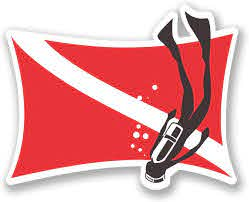 Amazon Com Ni4062 Pack Scuba Flag With Diver Vinyl Decal Sticker 5 Inch By 3 Inch Automotive
