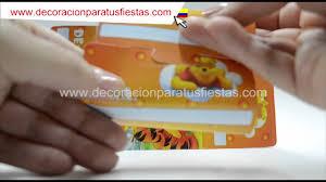 Tarjeta De Invitacion A Cumpleanos Infantiles Con Tema De Winnie