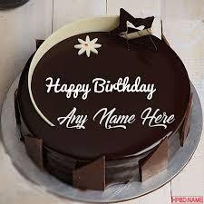 dark chocolate birthday cake by name