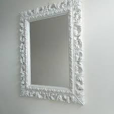 french resin style ornate wall mirror