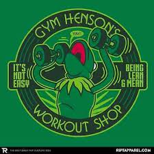 jim henson show gym limited ed mens t