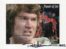 Doctor Who Planet Of Evil Collectable Stamp Cover Signed by PRENTIS HANCOCK