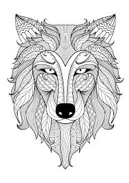 Incredible Wolf Wolves Coloring Pages For Adults Just Color