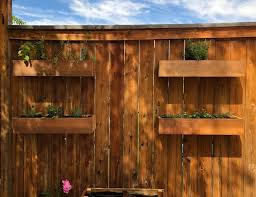 Diy Fence Mounted Herb Planters How To Create A Vertical Garden Styled To Sparkle