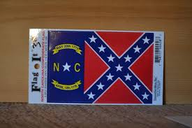North Carolina Confederate Flag Decal