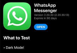 WhatsApp beta reveals dark mode is finally coming to the iPhone