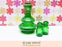 green glass spice jars bottle set