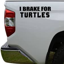 Amazon Com Rosie Decals I Brake For Turtles Die Cut Vinyl Decal Sticker For Car Truck Motorcycle Window Bumper Wall Decor Size 10 Inch 25 Cm Wide Color Gloss Black Home Kitchen