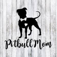 Pitbull Mom Heart Dog Car Decal Sticker Mercari Pitbull Mom Decal Pitbull Mom Pitbull Art