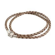 pandora leather bracelet pearl double