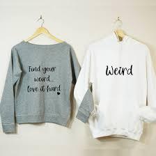 find your weird couples sweatshirt set
