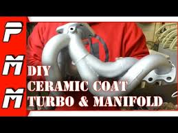 diy ceramic coating turbo and manifold