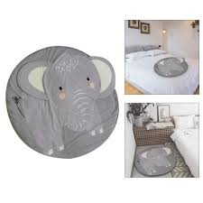 Kids Nursery Rug Elephant Shaped Play Mat Round Carpet Cartoon Elephant Design Baby Floor Playmats For Home Room Decoration 37 4 Inch Grey Walmart Com Walmart Com