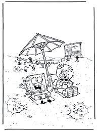 Spongebob En Sandy Spongebob Kleurplaten