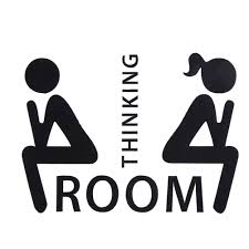 Whitelotouse Funny Toilet Bathroom Sign Decal Vinyl Sticker Wall Decals Bathroom Decoration For Shop Office Home Cafe Hotel Thinking Room Buy Online In Cambodia Brand Whitelotous Products In Cambodia