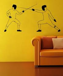 Vinyl Wall Decal Sticker Fencing Dual Os Mb556 Stickerbrand