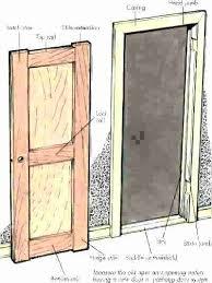 how to install exterior door frame