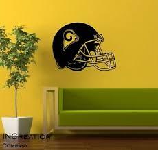 Los Angeles Rams Wall Decal Vinyl Sticker Logo Mural Decor Helmet Football Fan Ebay