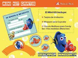 Nemo Y Dory Tarjetas De Cumple Para Imprimir Mundo Mab Kits