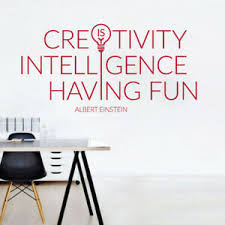 Creativity Is Intelligence Having Fun A Einstein Office Wall Sticker Ebay