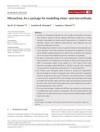 an r package for modelling meso