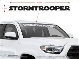 Stormtrooper Windshield Decal Importequipment