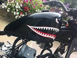 Shark Teeth Eyes Decal Retro Sticker P40 Warhawk Small Motorbike Bobber Ebay